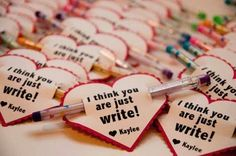 Easy inexpensive Valentine day gift for classmates or students.