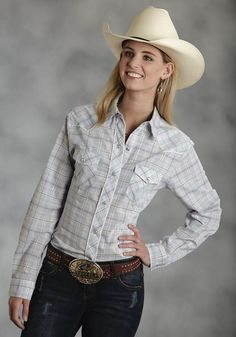 Rusty Spur Couture Roper Karman L/S Aqua Plaid Retro Piped Fancy Yoke Snap Shirt - , Cowgirl Shirts, Cowgirl Outfits, Equestrian Outfits, Western Outfits, Western Shirts, Chic Outfits, Fashion Outfits, Cowgirl Fashion, Country Outfits