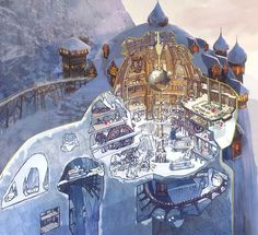 The North Pole according to The Rise of the Guardians early concept art