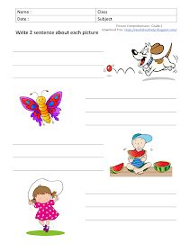 Descriptive Writing Activities, Creative Writing Worksheets, English Creative Writing, 2nd Grade Reading Worksheets, Picture Comprehension, Fun Worksheets For Kids, English Activities For Kids, English Grammar For Kids, Math Coloring Worksheets