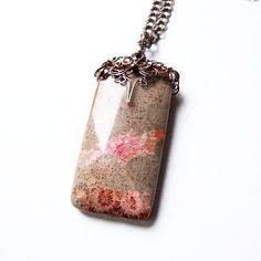 fossil coral necklace  big wire wrapped copper by KicaBijoux, $50.00