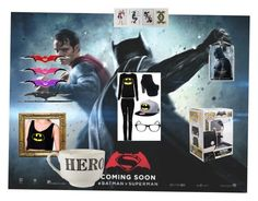 """""""Dawn of justice - Team Batman"""" by katherinetyack on Polyvore featuring beauty and Sir/Madam"""