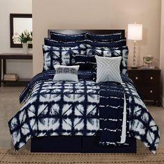 Tie Dye Plaid Printed Reversible 12-piece Comforter Set
