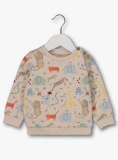 Buy Oatmeal Safari Print Sweatshirt - months at Argos. Thousands of products for same day delivery or fast store collection. Kids Prints, Baby Prints, Baby Boy Outfits, Kids Outfits, Stylish Little Boys, Baby Boy Cardigan, Little Fashionista, Printed Sweatshirts, Safari