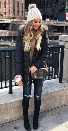 49 Cute Outfit Ideas to Keep Warm During Winter #Style http://seasonoutfit.com/2018/01/18/49-cute-outfit-ideas-to-keep-warm-during-winter/