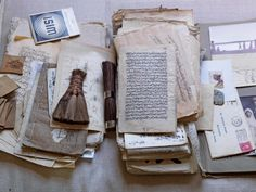 Old Paper, Paper Art, Paper Crafts, Vintage Paper, Altered Books, Altered Art, Prop House, Old Letters, Writing Letters