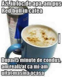 Red Bull in cafea :)) Cute Texts, Funny Texts, Funny Relatable Memes, Funny Jokes, Funny Cute, The Funny, Red Bull, Funny Images, Funny Pictures