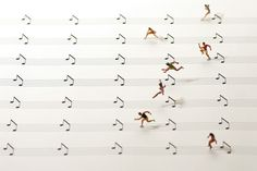 tatsuya tanaka crafts intricate miniature calendar of everyday scenes