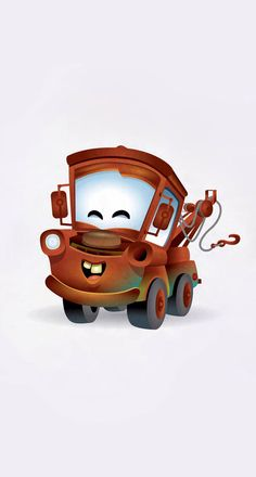 Kawaii Mater : A cute take on Mater from the Disney Pixar film CARS Kawaii Disney, Chibi Disney, Disney And Dreamworks, Disney Cars, Disney Movies, Walt Disney, Lightning Mcqueen, Illustration Kawaii, Baby Disney Characters