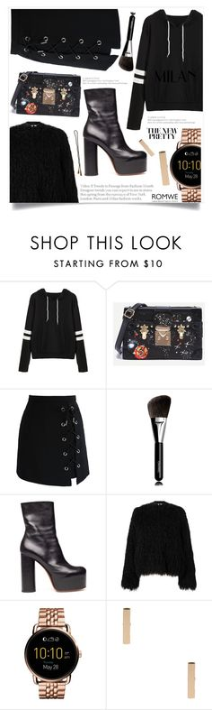 """Bez naslova #1544"" by violet-peach ❤ liked on Polyvore featuring Chicwish, Chanel, Vetements, Samsøe & Samsøe, FOSSIL and Vidal Sassoon"