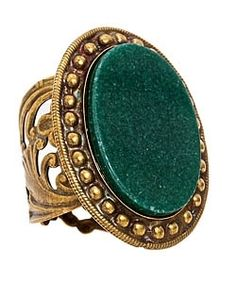 Sorrelli Green Oval Ring - Max and Chloe - StyleSays