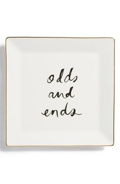"#KateSpade ""odds and ends"" tray ..I could use one of these.."
