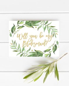 Printable bridesmaid card Will you be my by instanttrends on Etsy