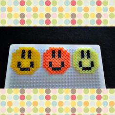 Smiley hama perler beads by lovethebead5