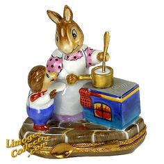 MAMA RABBIT COOKING LIMOGES BOX (RETIRED)