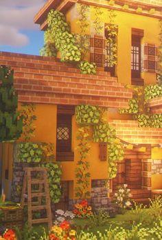 Minecraft Crafts, Minecraft House Plans, Minecraft Farm, Minecraft Mansion, Cute Minecraft Houses, Minecraft House Designs, Amazing Minecraft, Minecraft Decorations, Minecraft Construction