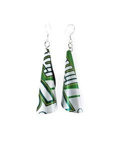 Recycled Soda Can Cone Earrings