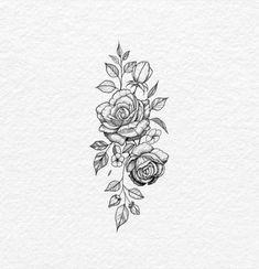 simple but want peonies ink tattoos, tattoo designs, rose - rose tattoo drawing Trendy Tattoos, Mini Tattoos, Body Art Tattoos, Sleeve Tattoos, Cool Tattoos, Inner Arm Tattoos, Hip Tattoo Quotes, Bat Tattoos, Upper Leg Tattoos