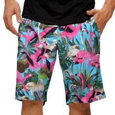 Pink Flamingos Mens Golfing Shorts by Loudmouth Golf.  Buy it @ ReadyGolf.com