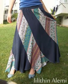 ....# Lilithin #....: Maksi Etek Diktim Swril skirt