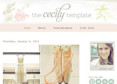 Blogger Template - The Cecily Template