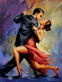 Paint by Number Kit - Passionate Dancers Doing the Tango. A Great Christmas Gift! by OurPaintAddictions Tango Art, Tango Dancers, Dance Paintings, Shall We Dance, Ballroom Dancing, Swing Dancing, Figure Painting, Diy Painting, Watercolor Painting