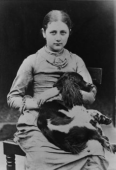 Peter Rabbit author Beatrix Potter (a character of sorts in The Wednesday Daughters) with her dog