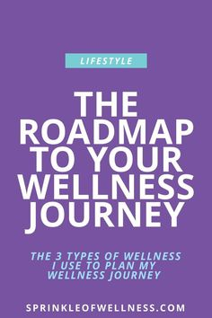 Practicing wellness is a journey. But how do you get started? These are the 3 types of wellness I use to plan my own wellness journey.