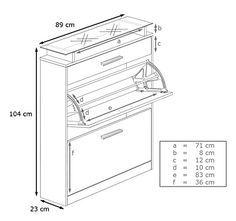 Schuhkipper Schuhschrank Loret in Weiß / Weiß matt: Amazon.de: Küche & Haushalt