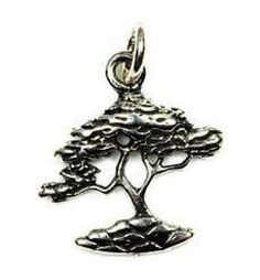 Sterling silver bonsai tree charm at our lowest price possible!!!