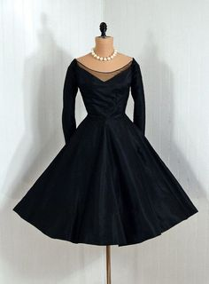 Dress Ceil Chapman, 1950s Timeless Vixen Vintage