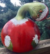 Grinch Christmas Hand Painted Christmas Centerpiece Signed #grinch