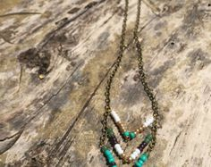Collar de flecos Chevron por AMiRAjewelry en Etsy