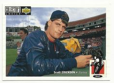 1994 Scott Erickson Baseball Card Upper Deck Collector's Choice #96 Twins MLB