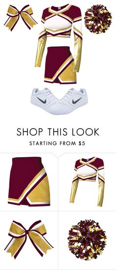 """Cheer Uniform #5"" by thisisvintage ❤ liked on Polyvore featuring Chassè and NIKE"