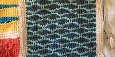 An Afghan Stitch Sampler – Block 46 (Wave)   Quilts To Crochet