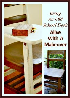 Have you seen the old time school desks? I have one that needs some tender loving care. I'll show you how to bring an old school desk alive with a makeover.