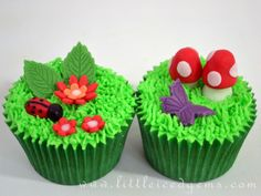 Summer garden cupcakes - www.littleicedgems.com