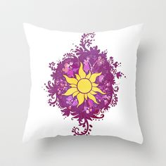 A Tangled Drawing Throw Pillow by Katikut - $20.00