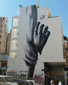Street art in Athens-Greece