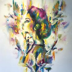 Katy Jade Dobson Art 'Opium I' oil painting