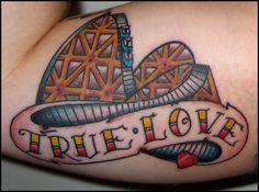 222fdb2fa43e2 Roller Coasters, New Tattoos, Skin Art, Tatting, Body Art, Tattoo Ideas