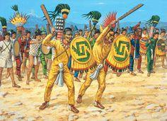 In de 15e eeuw leefden de azteken. De azteekse beschaving beleefde zijn hoogtepunt op het moment toen de Spanjaarden verschenen. Er werd veel gehandeld en ambachtslieden maakten schitterende gebruiks en kunstvoorwerpen.