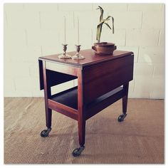 A charming RETRO solid wooden drop-leaf drinks trolley on its original castors in great condition in the Other Furniture category was listed for on 6 Oct at by Lifespace Homeware in Gauteng Drinks Trolley, Conditioner, Black And White, The Originals, Retro, Table, Cottage, Drop, Inspiration