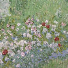 Daubigny's Garden (detail) by Vincent van Gogh | Lone Quixote | #art #artists #artwork #detail #VincentVanGogh #flowers #PostImpressionism