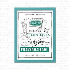 Piękny plakat z zabawnie ułożonym tekstem. Grafika może być oryginalną ozdobą do salonu, sypialni, pokoju czy biura. Wykorzystaj plakat jako świetny prezent na każdą okazję. Wszystkie napisy wykonywane są ręcznie! Books, Libros, Book, Book Illustrations, Libri