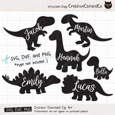 Dinosaur Silhouette SVG Files for Cricut or Silhouette Cute Baby Dinosaur SVG DXF Cut File T rex Simple Dinosaur svg dxf Clipart Clip Art - Dinosaurier Silhouette SVG-Dateien Cricut oder Silhouette Cute Baby Dinosaurier SVG DXF geschnitten - Circuit Projects, Vinyl Projects, Cricut Vinyl, Svg Files For Cricut, Cricut Fonts, Cricut Craft, Cricut Ideas, Clipart, Printable Poster