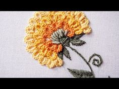 Hand Embroidery: Carnation flower - YouTube