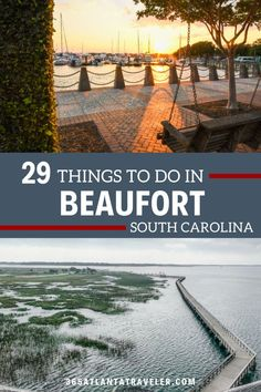 Beaufort, SC is one of the South's most beautiful travel destinations, draped with Spanish moss and framed by gorgeous coastal views. Adventure on the water or along the rails-to-trails path...relax at the beach or breath easy on a large swing overlooking the river. Dive deep into the history of the Gullah Geechee people, explore downtown, local restaurants, try local activities and things to do, and more with these tips! Read on to start planning your weekend escape to this charming small town. Beaufort Inn, South Carolina Vacation, Parris Island, Local Activities, Port Royal, Spanish Moss, Weekends Away, The Other Side, Small Towns