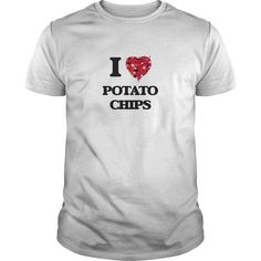 I Love Potato Chips food design - The perfect shirt to show your love for your favorite food.